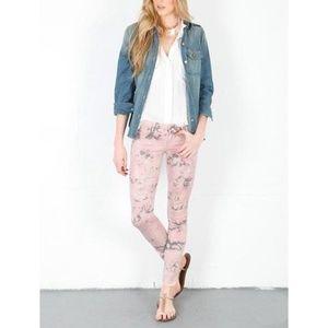SIWY Hannah Slim Thunder Crop Jeans Pink Tie Dye
